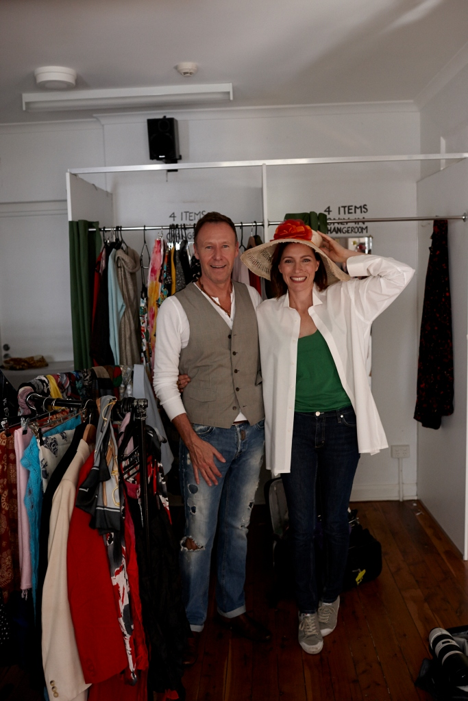 Claudia with Stylist Pat Tyrell for The National Treasures Series : Zoë Porter