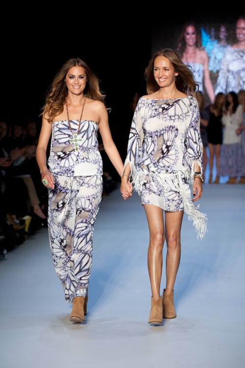 With Yasmin Le Bon for Little Joe Woman at Rosemount Fashion Week 2011.