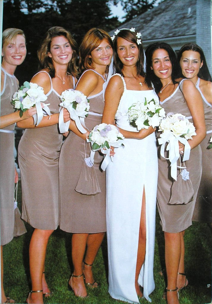 The wedding of Gail Elliot and Joe Coffey. September 1997 in The Hamptons, New York.