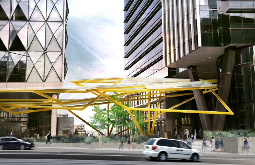 What's to come...Dion's gigantic works for Collins St Melbourne.