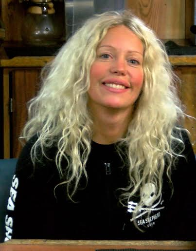 Malin Frick. Photo credit The Sea Shepherd
