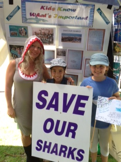 Ocean Care Day 2014 Manly Beach, Sydney with Crown Street Public School pupils Eva and Ella.