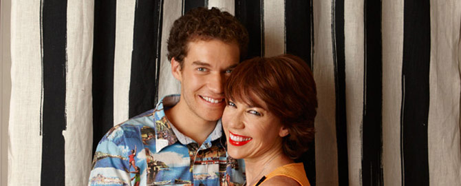Mother and son. Kathy and Jules. Image from Kathy Lette website.