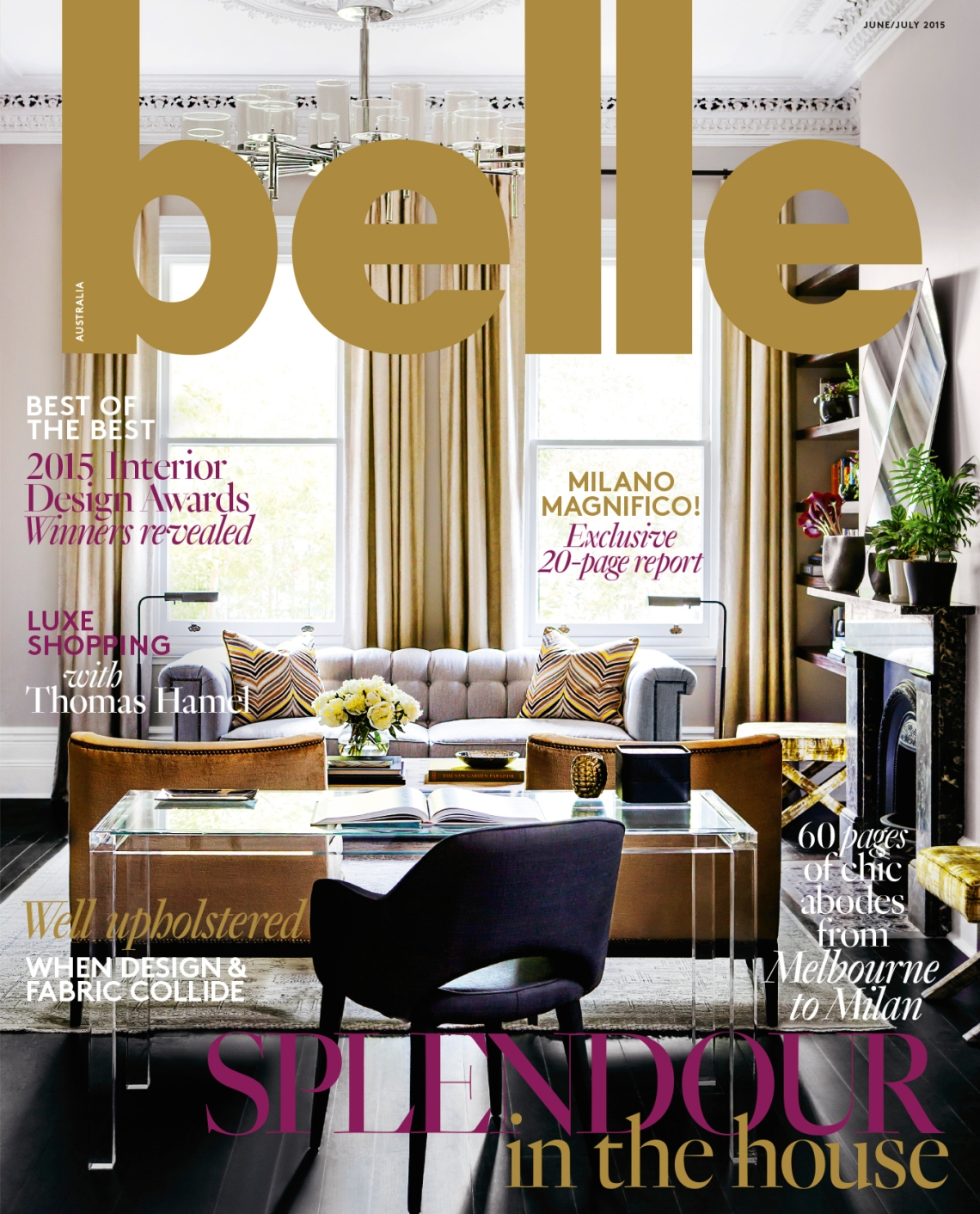 The Brendan Wong Cover for Belle Magazine 2015