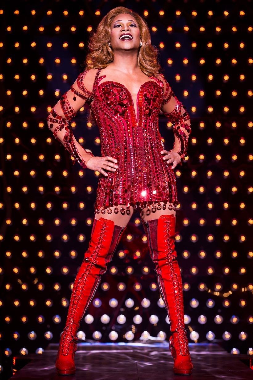 Billy Porter as Lola from the original Broadway cast of Kinky Boots. Photo by Matthew Murphy. 217 email