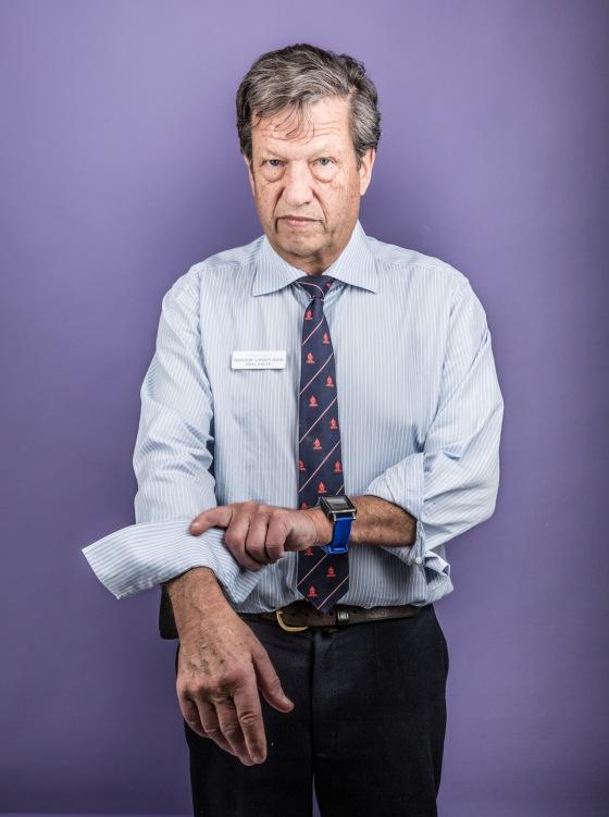 Professor Gordian Fulde for The National Treasures Series. Photographer Graham Jepson. Zoë Porter