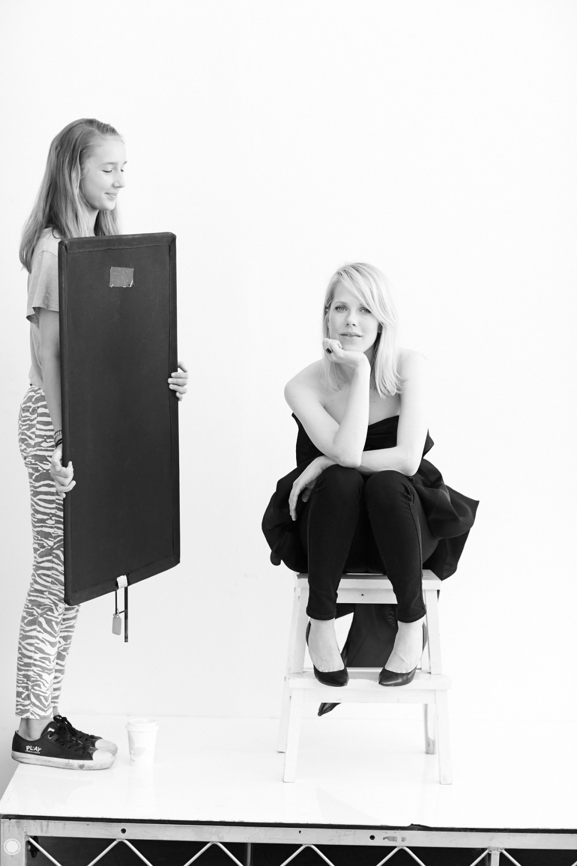 Milla left. Photo shoot and interview with Alyssa McClelland. Photographer Toby Burrows