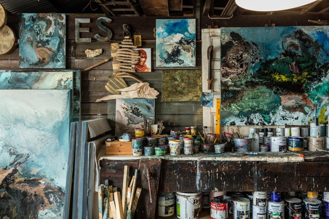 Eduardo Santos. Artist's Studio, Sydney